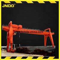 single double girder 50 ton rubber tyre used gantry crane for sale