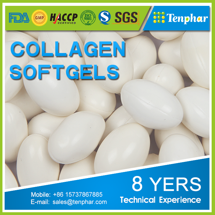 Soluble Collagen Soybean Extract Whitening Capsule Softgel