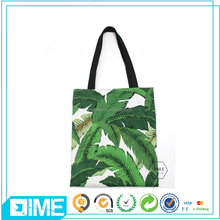 Custom Printing Cotton Foldable sublimation Tote Beach Bag