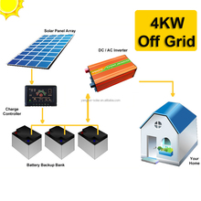 1 day backup 4kw off grid home solar energy system