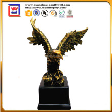 Home decoration resin eagle statue and polyresin large animal statues and resin eagle statues
