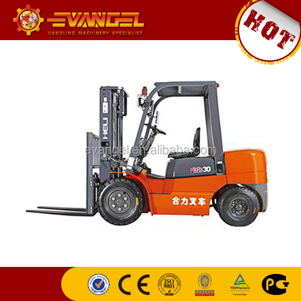 forklift truck turning radius YTO forklift CPCD30 3 ton new all terrain forklift price Hot sale