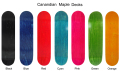 Canadian hard maple wood skateboard decks china