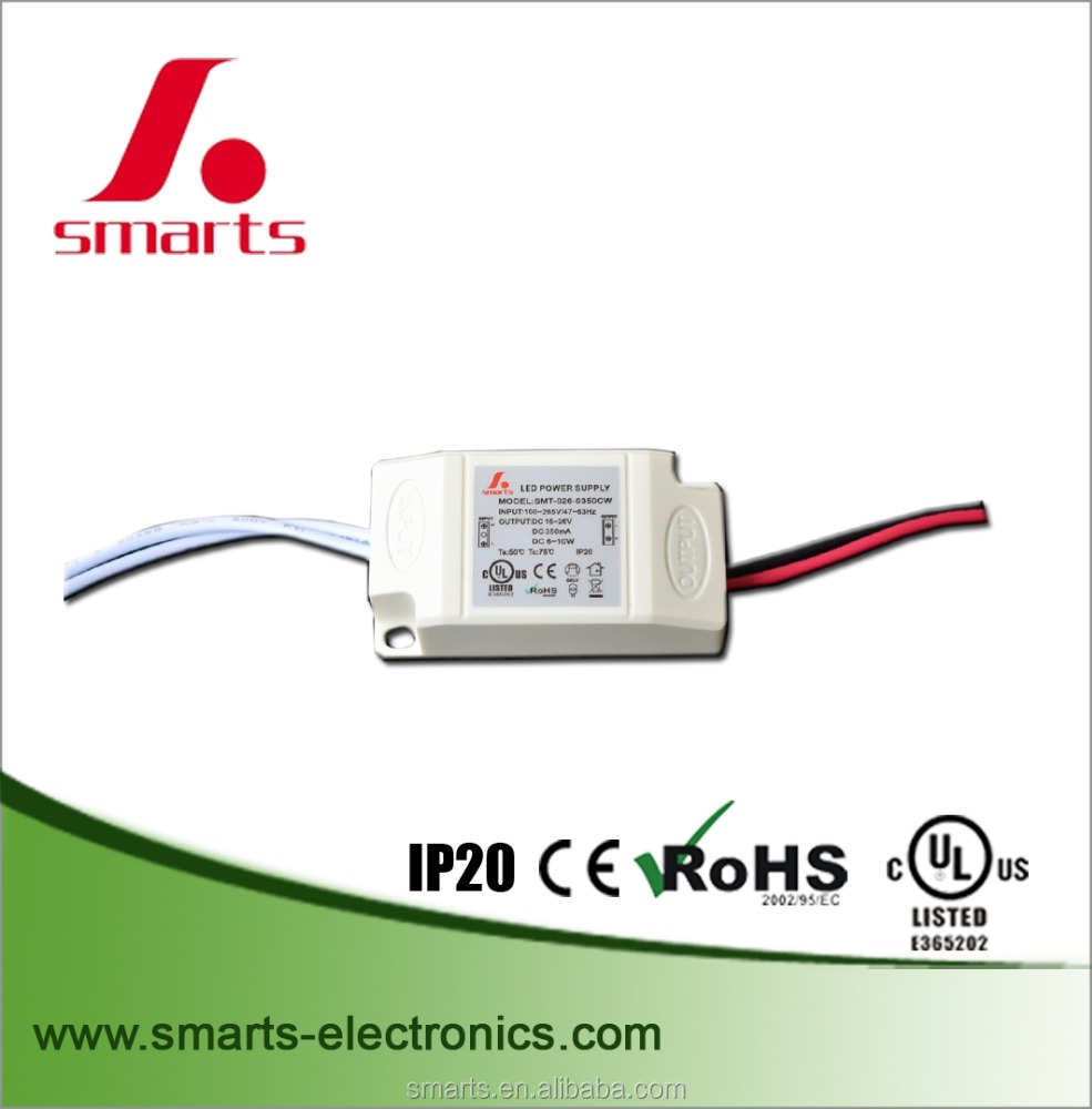 ul certification 6-9w 24v 350ma constant current led driver