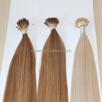 wholesale pre-bonded i tip brazilian human hair extensions