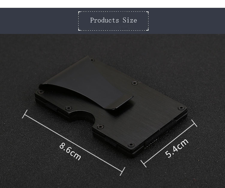 RFID Blocking Aluminum Auto Pop-up Card Case Anti Scan Card Holder Leadill Laser Engraver Printing Logo Money Clip with Blocking