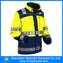 Whcolesales custom two tone police reflective adult raincoat