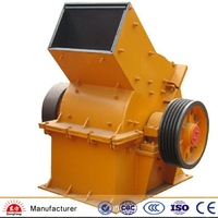 Hammer crusher for rock crushing, mining, concrete, asphalt, demo recycling