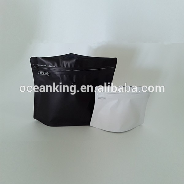 die cut shape one way degassing valve aluminum laminated foil standing up coffee packaging pouch