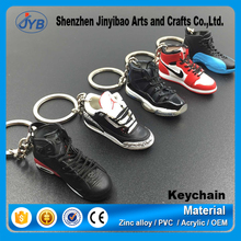 High Quality 3d sneaker keychains 3D sneaker basketball shoe design keychain