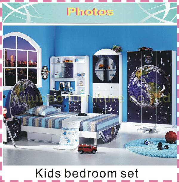 MDF cheap furniture kids furniture boy bedroom set from China