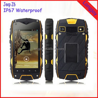 Jeep Z6 Rugged IP68 Waterproof Mobile Phone 4 Inch Screen Dual SIM Phone with GPS