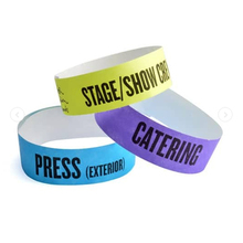 printable roll RFID waterproof pp paper wristbands paper wristband for waterpark access control