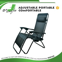 adjustable foldable recliner zero gravity lounge camping chair with phone Holder
