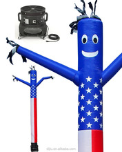 Inflatables Air Dancer Sky Inflatable Puppet American Flag Combo Set, 20-Feet