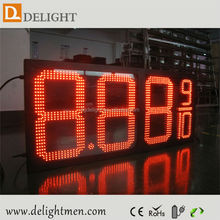 automatic gas station price led full colour outdoor display/ high brightness led matrix display module