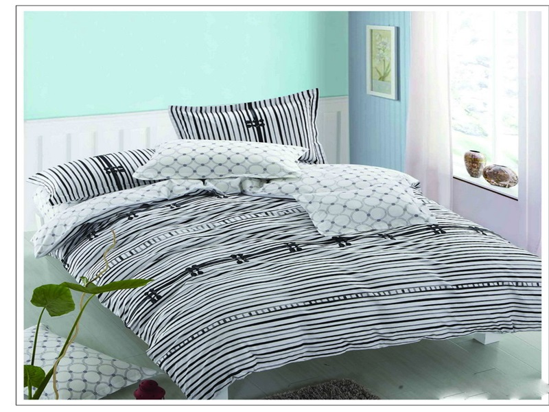 hotsale pigment print cotton rail ways duvet cover quilt bedskirt comforter flat sheet set