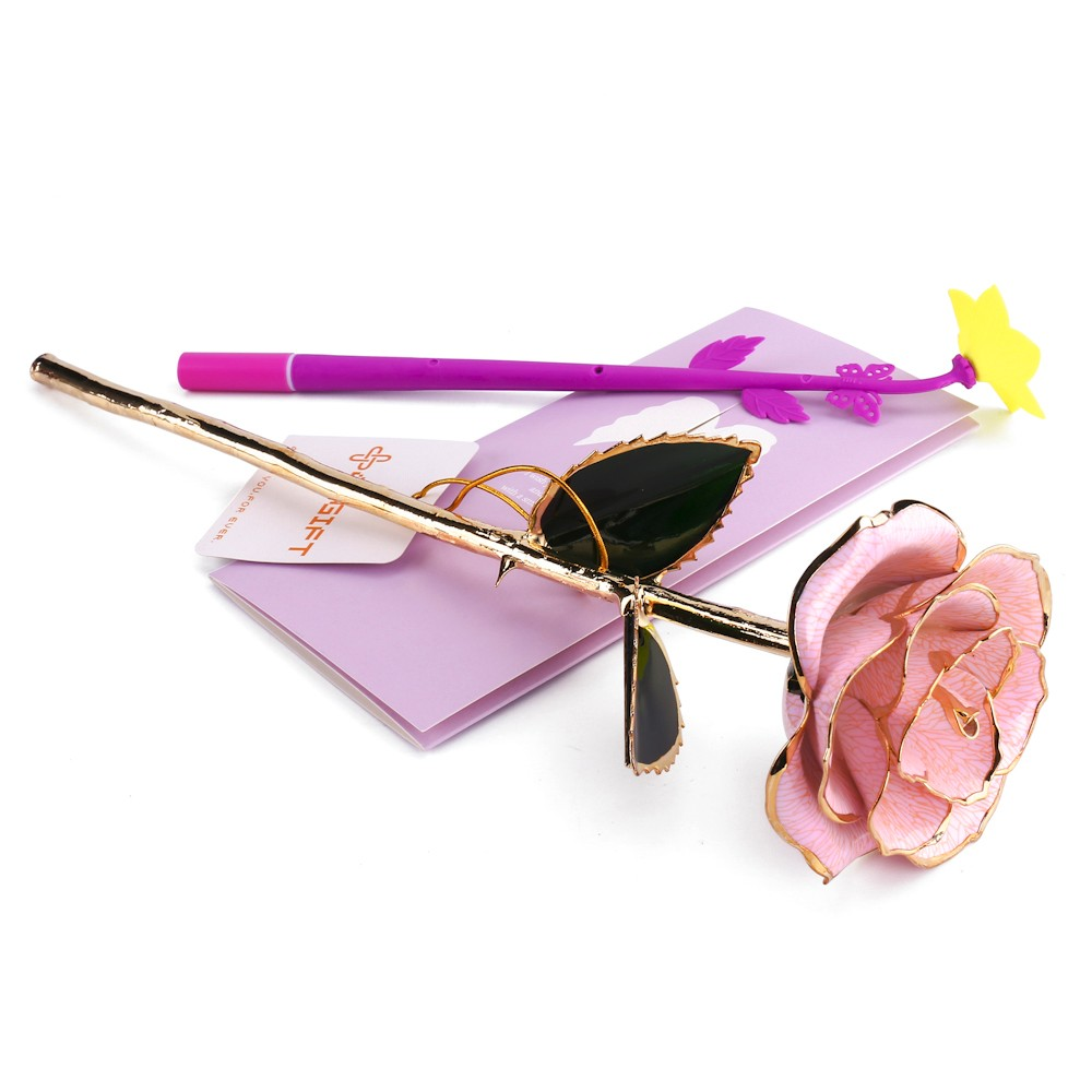 Wholesale teachers' day gift gold dipped rose articial flower