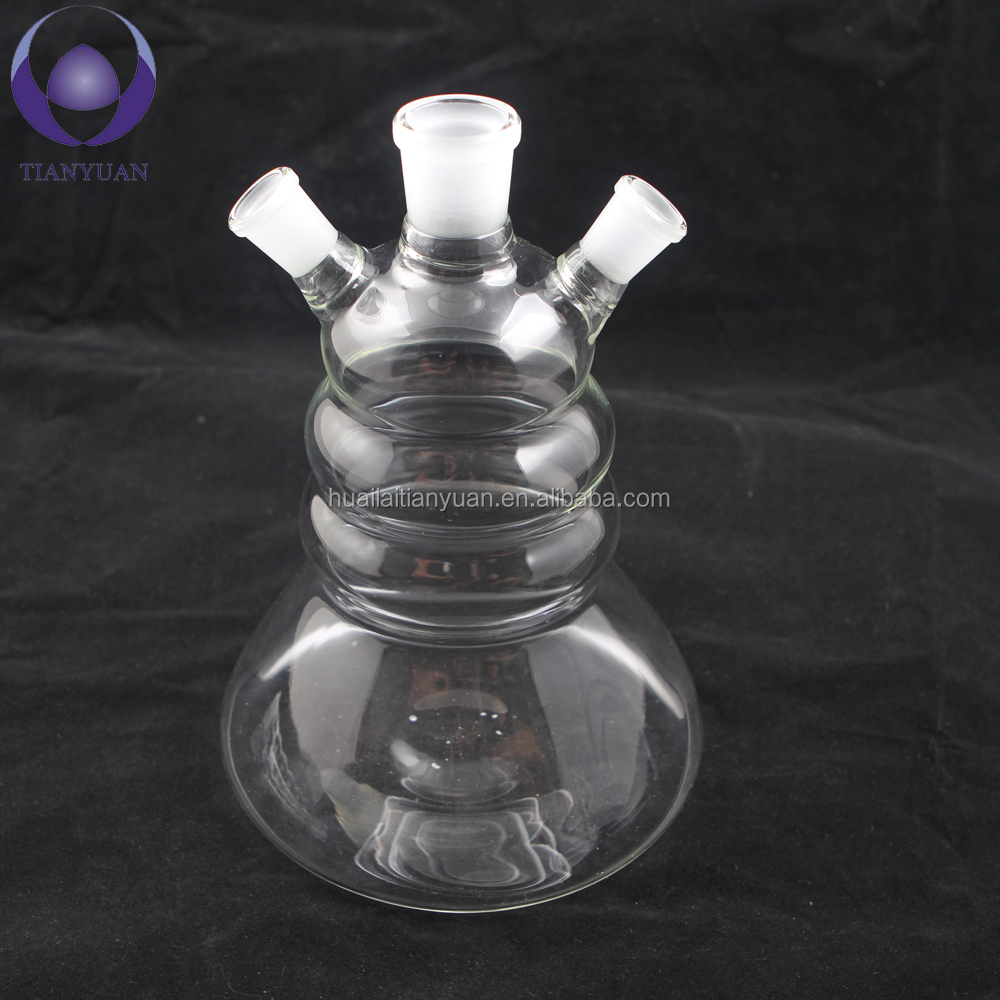 Hot sale China man blown borosilicate glass colored clear crystal khalil mamoon hookah