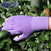 NMSAFETY printed garden gloves nylon liner pu coated women garden gloves