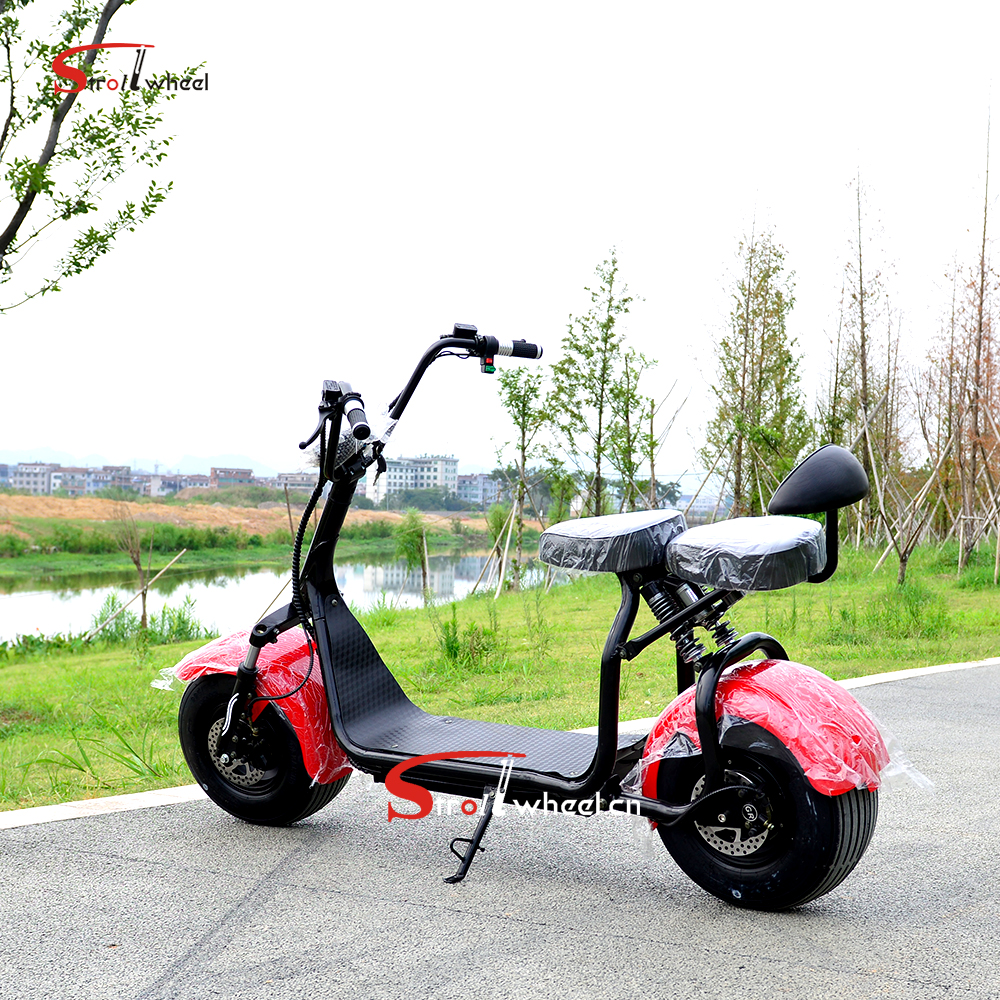 2018 new prodcuts adult electric motorcycle citycoco WOQU 2 seat citycoco e scooter 5000w
