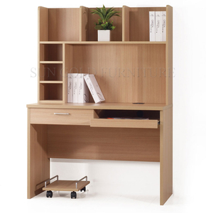 Modern Cheap price kids study table with home office wood reading desk bookshelf(SZ-FCB392)
