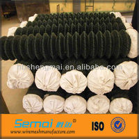 High quality PVC Coated Galvanized Chain Link Fence Weave Fabric(ISO9001;MANUFACTURER)