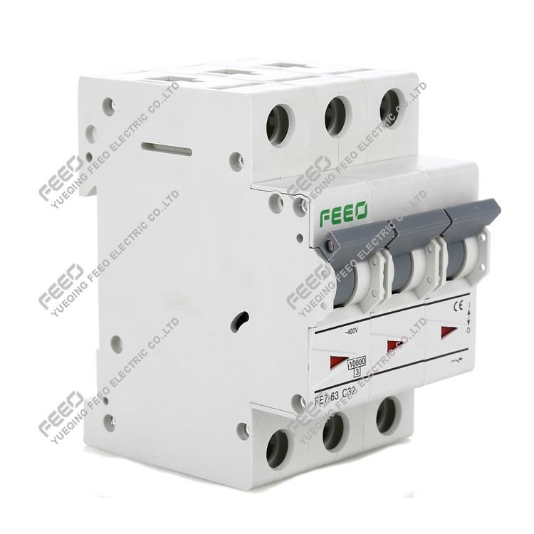 Single Pole DIN Rail MCB Miniature Circuit Breaker 230V 400V AC 40A