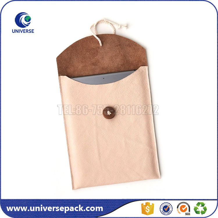 Cute pink pu phone bag with button