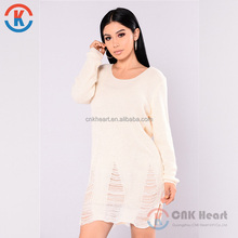 2018 Fashion lady clothing latest women white new fashion sweaters