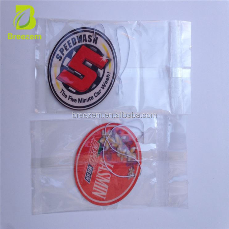 bulk car air freshener/football soccer cup football club promotional gift car paper air freshener car air fresherner