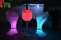 China dongguan manufacturer plastic rotaional moulding led glowing led bar table