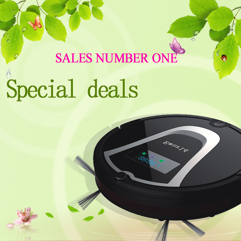 Strong sunction power dry function cyclone vacuum robot cleaner wireless