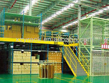 pharmacy carton storage mezzanine floor system