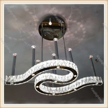 Remote control led chandelier luxury pedant crystal designer pendant lighting for dining room
