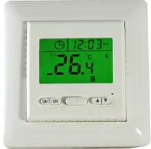 Green backlight digital room thermostat for floor heating
