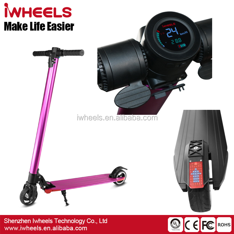2017 Hot Sale Aluminum Alloy Folding Adult Two Wheels <strong>Electric</strong> Kick Scooter For Wholesale
