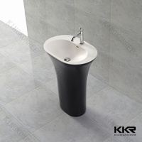 China manufacturer sanitary ware acrylic solid surface starbucks furniture/italian kitchen sink/free standing basin