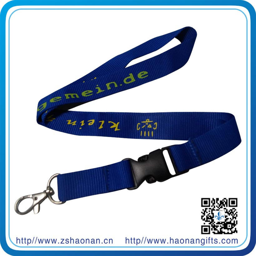 woven Novelty lanyard with ID card puller