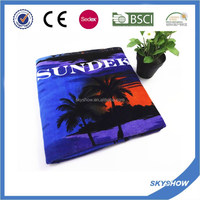 Custom Made Print Low Price Beach Towel With Pillow
