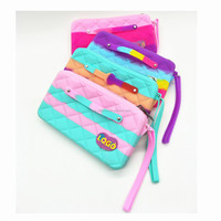 Colorful Candy Silicone Women Wallet Ladies Wallet