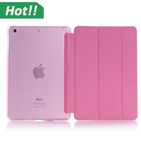 High Quality Stand Slim Folio Tablet Case Flip PU Leather Tablet Cover for iPad mini 1 2 3