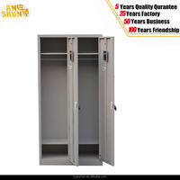 2015 Modern Steel Olympic Furniture KD Double Door Two Tiers Gym Photo Locker with Keypad Lock