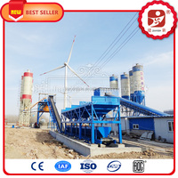 High accuracy aggregate batching system 60m3/h ready mix concrete plant with ISO certification