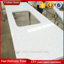Jianfa artificial sparkle crystal white quartz stone