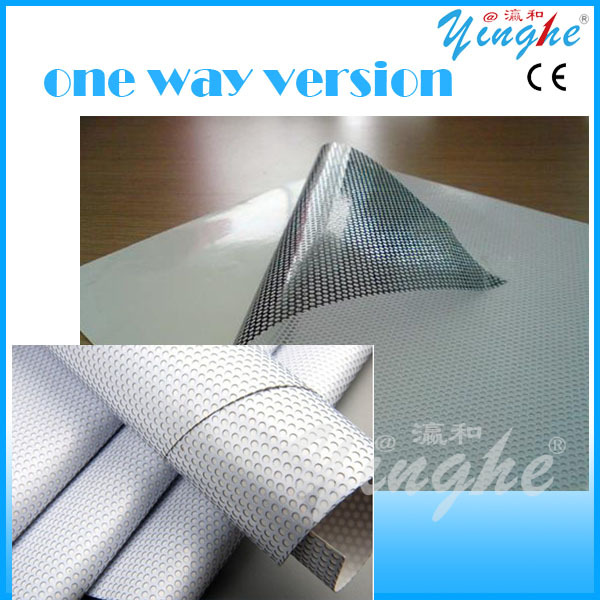 new model type poster one way vision plastic film