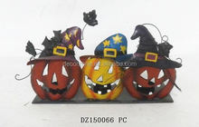 Halloween Decoration Metal Pumpkin Candle Holder