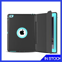 Smart great texture for ipad mini cover Tri-Fold PU Case for ipad mini case