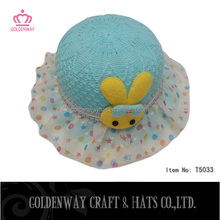 cute baby straw hats girls small size hats bucket hats