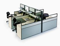 customize 4 seat excutive l-shaped office desk